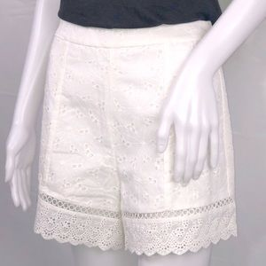 Endless Rose White Eyelet Embroidered Shorts Sz: M